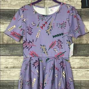 Lularoe purple floral dress